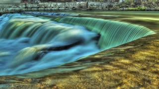 Falls HDR Time Lapse (Royalty Free HD Stock Video Footage)