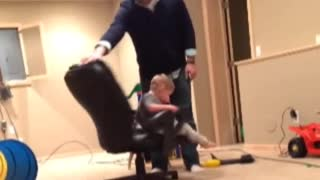 Collab copyright protection - dad blue sweater toddler fall fail
