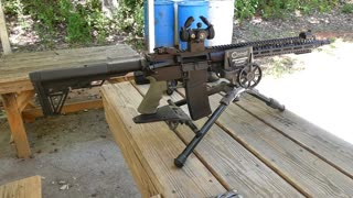 Talon Armament Gryphon. Groups at 50 yards with Sparc Red Dot
