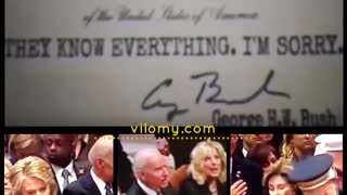 """Bush Funeral Envelopes """"Sorry, They know everything"""""""