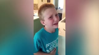 This Boy Really Hates Tomatoes - Video