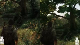 The Last of Us remastered - PS3 vs PS4 graphics comparison - Video