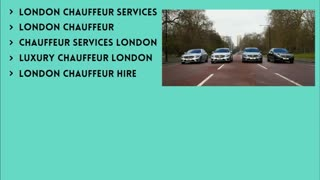 London chauffeur - Video