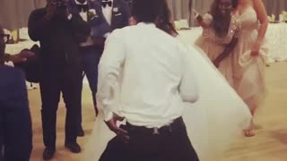Crazy bride and grome wedding party dance - Video