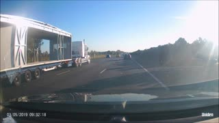 Wide Load Loses Parts on the Road