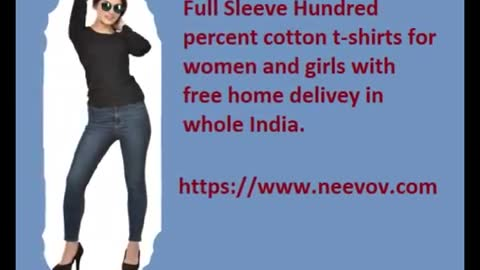 Full Sleeve Women Plain Chocolate Colour Tee Shirts
