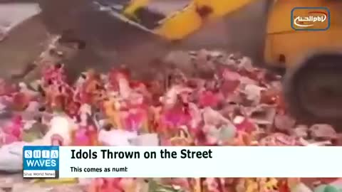 Indians burned Idols because it did not save them for the virus