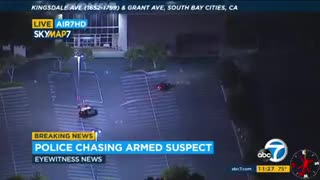 Armed Suspect Night Time Police Pursuit