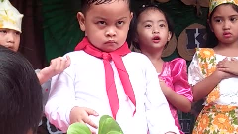 Kid pouts over performance