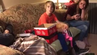 Kid totally shocked with new puppy surprise - Video