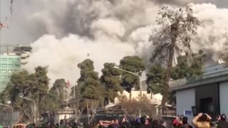Tehran fire Plasco building collapses, 30 feared dead - Part 2 - Video