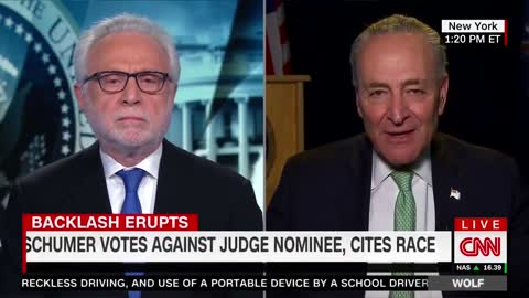 Schumer Goes on CNN to Deny He Voted Against Judicial Nominee Because He's White — Roll the Tape