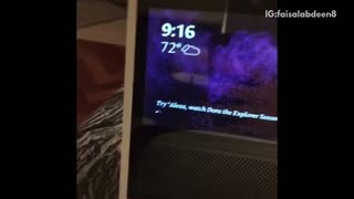 Guy tells alexa to bark and black dog freaks out - Video