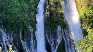Jaw-dropping footage of the majestic Burney Falls in California
