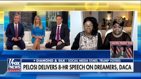 Diamond and Silk on Pelosi's marathon stand for Dreamers