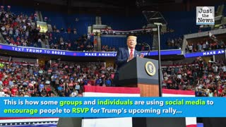 Trump's event in Portsmouth - people pretending to go but won't show up