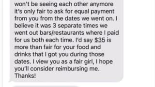 "Woman slams ""audacity"" of her Tinder date for requesting to split the bills of their dates"