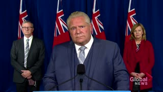 "Ontario Premier Doug Ford says ""everything on the table,"" including lockdowns"