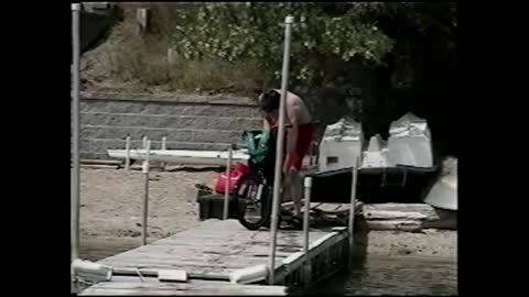 Teenager Crashes While Trying To Ramp A Bike Into A Lake
