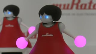 Japanese company unveils robot cheerleaders - Video