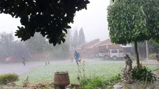 Huge Hailstorm in Ermelo