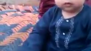 Cute Baby Playing with Himself