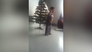 Little Boy Cries While Dancing - Video