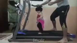 Baby Fitness Coach, Baby in gym shows off his daily workout routine, Priceless Moment