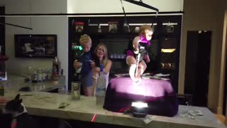 Family Turns Living Room into Quarantine Dance Party