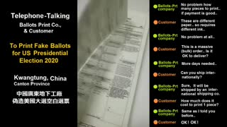 Breaking! Chinese Govt. manufactures fake ballots to swing 2020 U.S. Election.