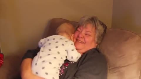Baby Laughs Contagiously During Game Of Peekaboo