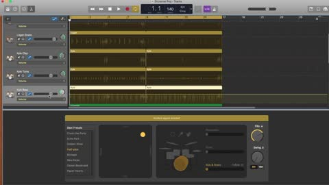 How to make a complex drum track in GarageBand