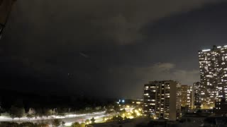 Incredible timelapse of lightning storm over Chicago