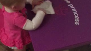 Cleaning baby - Video