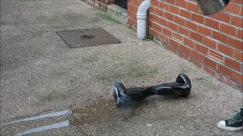 Hover Board Catches Fire Immediately After Being Unboxed