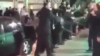Motorcycle crashes into crowd in Ashura