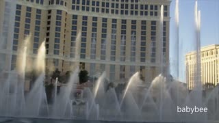 Star Spangled Banner Fountain Show at The Bellagio