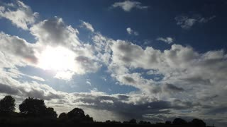 Sky sun clouds time lapse - Video