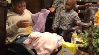 Baby Gives Cousin an Unexpected Present