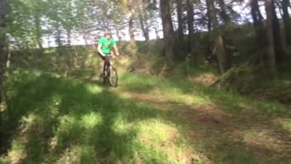 Collab copyright protection - green shirt bike faceplant - Video