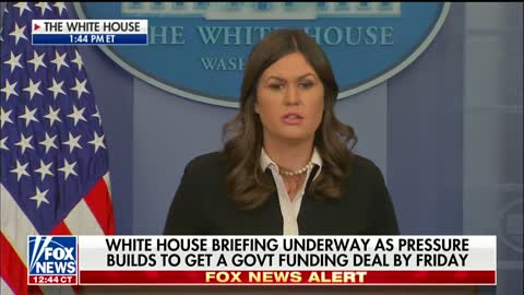 Sarah Sanders: Blame Democrats if The Government Shuts Down
