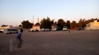 Afzaal bating very good.. hitting boudries to ali raza  - Video