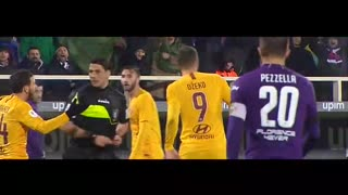 Edin Džeko red card vs Fiorentina