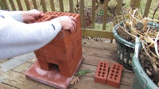 How to Build a Brick Rocket Stove for Fire Roasting Tomatoes, Peppers & Garden Vegetables - Video