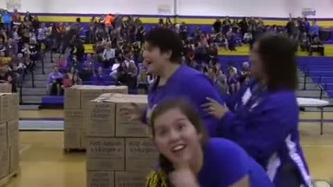 Mom Wins School Tuition For Her Daughter With Improbable Shot!