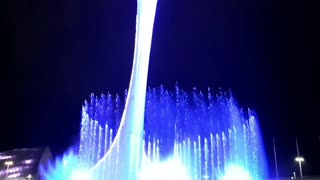Signing fountains, night show