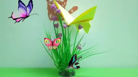 art of folding a butterfly from paper