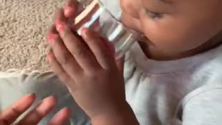 Little Girl's Hilarious Reaction To Tasting Cranberry Juice For The First Time