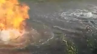 Fire is coming From Water