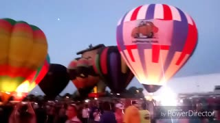 Hot Air Balloon Glow Labor Day Lift Off Colorado Springs  - Video